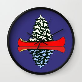 Christmas Canoe Wall Clock