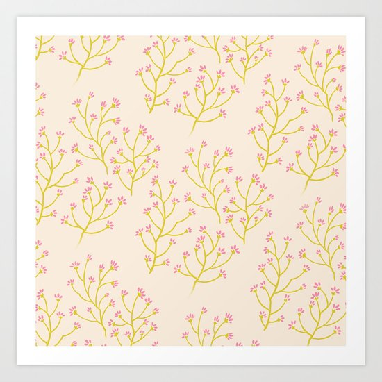 wildflowers yellow Art Print