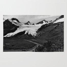 Retro USA Alaska Worthington glacier in summer 1970 Rug