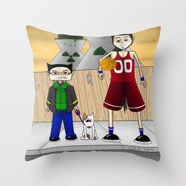 Sparky and Dunlap Throw Pillow