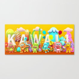Kawaii Illustration Canvas Print
