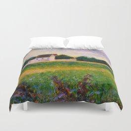 Landscape of the Ile de France Post-Impressionism landscape Oil Painting Countryside Cottages Farm Duvet Cover