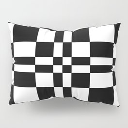 Intersections Black and White Pillow Sham