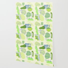 Suburbia from Above - Abstract Postmodern Retro Pattern Wallpaper