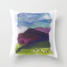 Tiny Landscape Throw Pillow