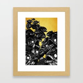 The Riot : Piranhas (color version) Framed Art Print