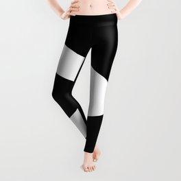 Greater-Than Sign (White & Black) Leggings