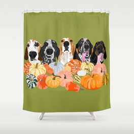 Coonhounds and Gourd Shower Curtain
