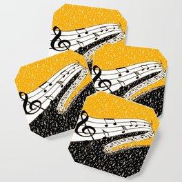 Gold music theme Coaster