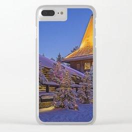Santas Village. Clear iPhone Case