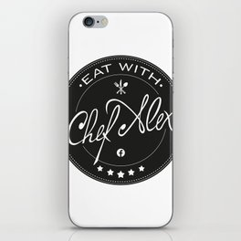 Eat With Chef Alex iPhone Skin