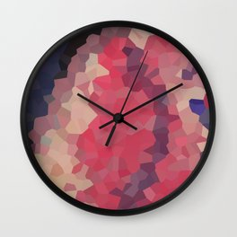 Pink Crystallized Abstract Wall Clock
