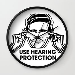 FAC 1 tribute - Factory Records - Use Hearing Protection Wall Clock