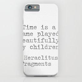 Heraclitus philosophy iPhone Case
