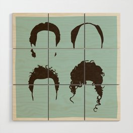 Seinfeld Hair Square Wood Wall Art
