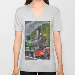Steam Train at Bewdley Unisex V-Neck