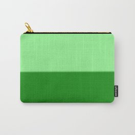 Abstract in two shades of green Carry-All Pouch