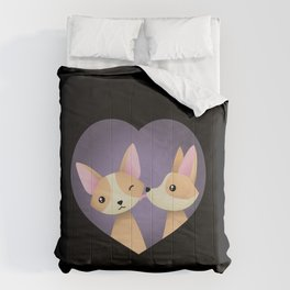 Corgi love Comforters