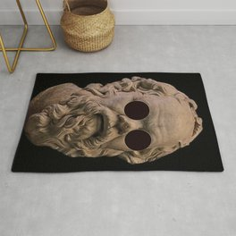 Classical Socrates With sunglasses Rug
