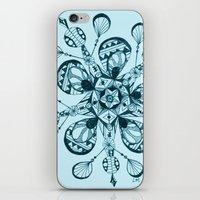 snowflake iPhone & iPod Skins featuring Snowflake by Laura Maxwell