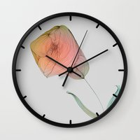 tulip Wall Clocks featuring Tulip by Brontosaurus