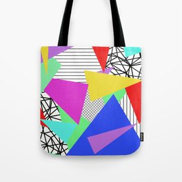 Bits And Pieces - Retro, random, abstract pattern Tote Bag