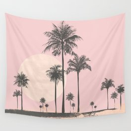 Tropical Sunset In Peach Coral Pastel Colors Wall Tapestry