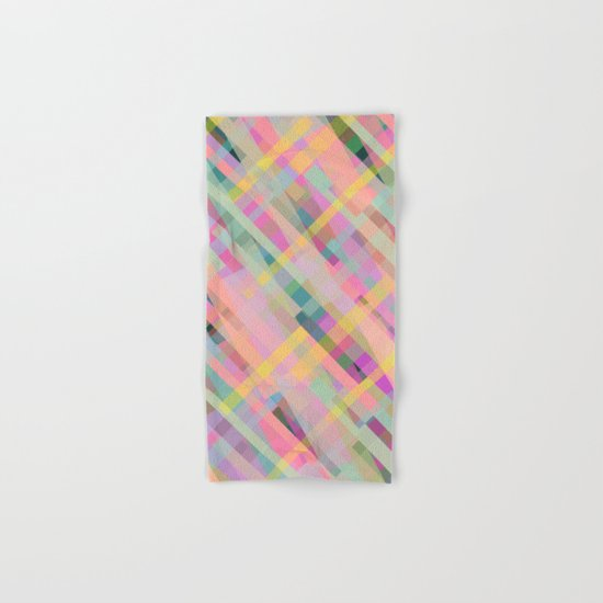 Colorful Square Pattern Hand & Bath Towel