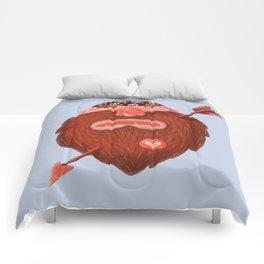 Biker in love Comforters