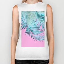 Palm Leaves Pink Blue Vibes #1 #tropical #decor #art #society6 Biker Tank