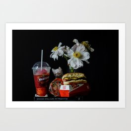 Hot Dog and Slurpee Still Life Art Print