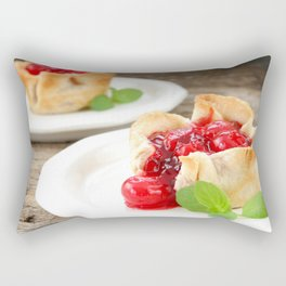 Cherry Tarts II Rectangular Pillow