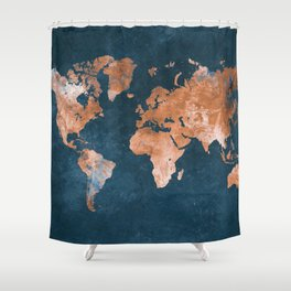 world map 15 Shower Curtain