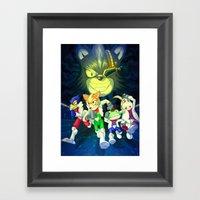 Run Fox, Run ! Framed Art Print