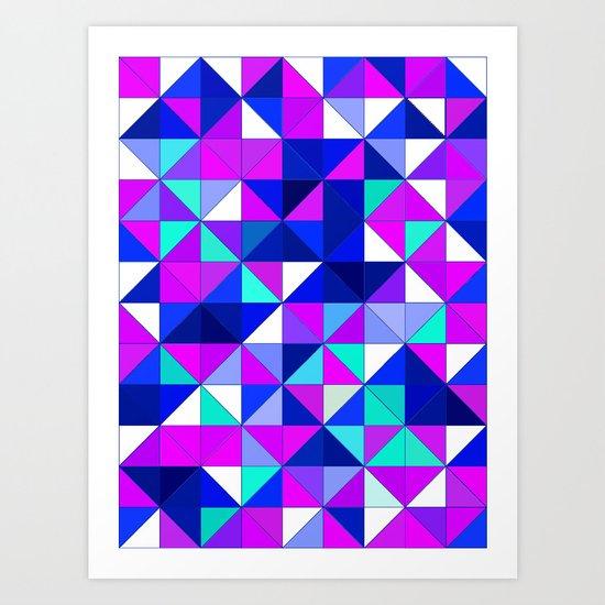 purple and blue Art Print