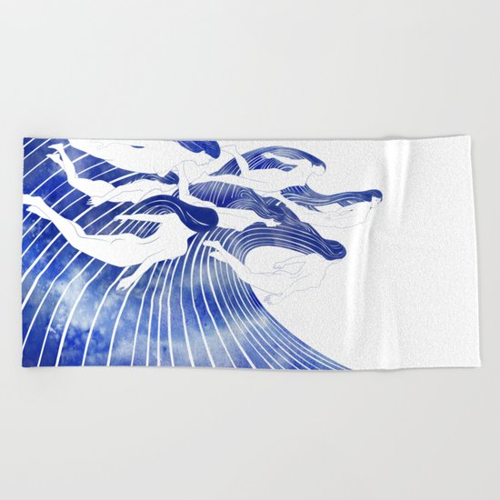 Seven Nereids Beach Towel