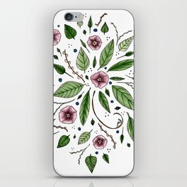 Hanging Among the Flowers & Leaves iPhone Skin