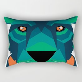 Aurora Lion Rectangular Pillow