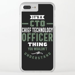CTO - Chief Technology Officer Clear iPhone Case
