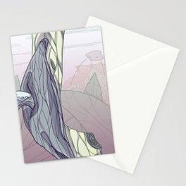 """traveled to a really cool planet last night, check out what their """"plants"""" look like Stationery Cards"""