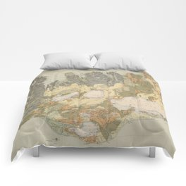 Vintage Geological Map of Iceland (1901) Comforters