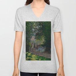 """Claude Monet """"The Parc Monceau"""" Unisex V-Neck"""