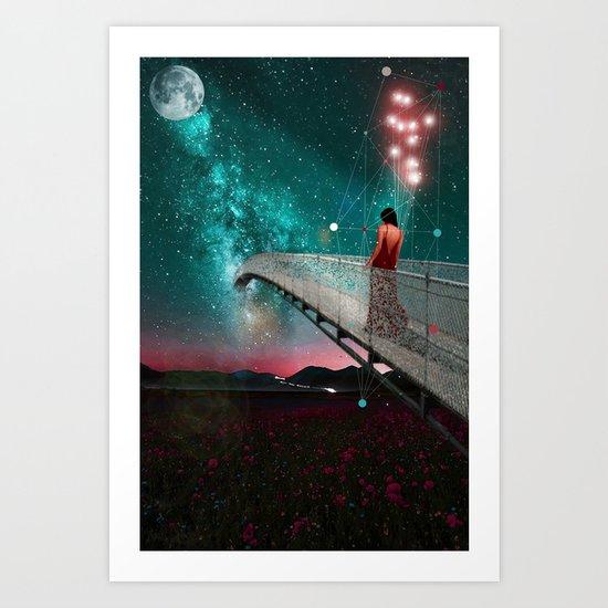 THE NIGHT WHEN I FOLLOWED THE STARS Art Print