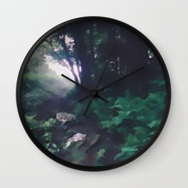 """"""" Forest Beckoning """" Wall Clock"""
