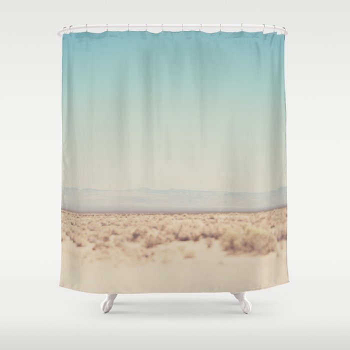 Shower Curtains That Open In The Middle.In The Middle Of The Desert Shower Curtain