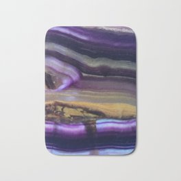 Fluorite from Mexico Slab Slice Crystal Purple Bath Mat