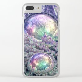 Reflecting Spheres In Space Clear iPhone Case