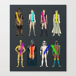 Naughty Lightsabers - Dark Canvas Print