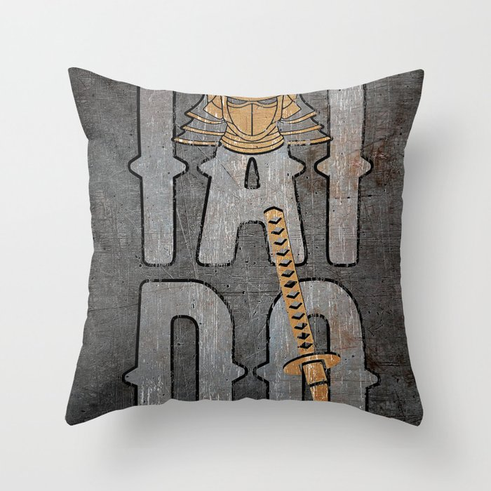 Iaido Art, Iaidoka, Martial Art Katana Throw Pillow by mysunlife