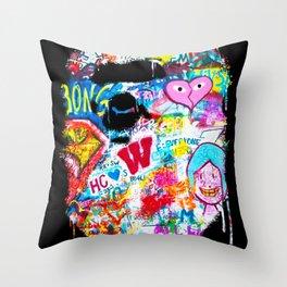 Graffiti Hypebeast Bape Illustration Throw Pillow